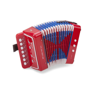 New Classic Toys accordeon met muziekboek junior 19 cm rood