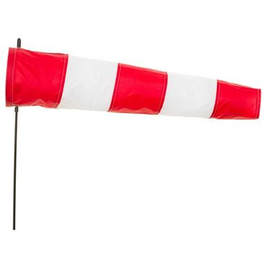 windsock Airport 100 cm rood/wit