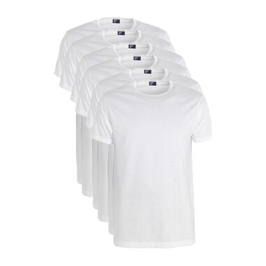 Aan Red 6-pack t-shirts derby ronde has wit