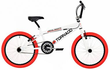 Tornado 20 Inch 55 cm Junior V-Brake Wit/Rood