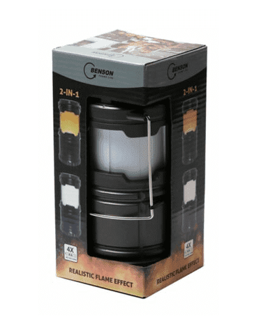 Luxe Campinglamp Flame Effect 2 in 1 - Ø87 x 182 mm