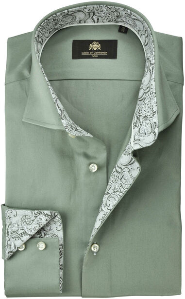 Circle of Gentlemen Overhemd deven paisley contrast slim fit