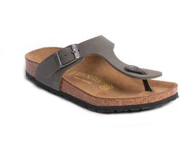 Birkenstock Gizeh teenslipper brushed groen