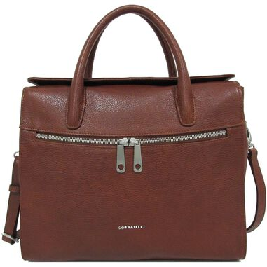 Gigi Fratelli Dames Leren Laptoptas / Tablet tas 10 inch Romance Business ROM8010 Brandy