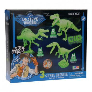 Geoworld bouwpakket glow in the dark dinosaurussen