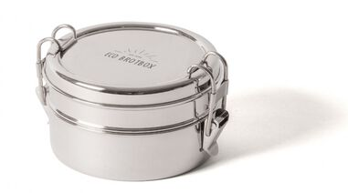 ECObrotbox Lunchbox Tiffin Double RVS 700 ml