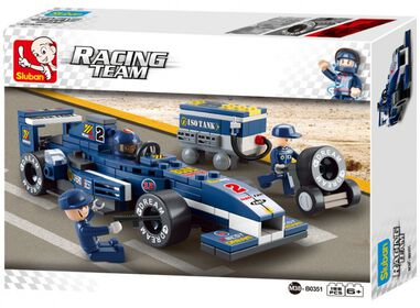 Sluban Racing Team: racewagen blauw (M38-B0351)
