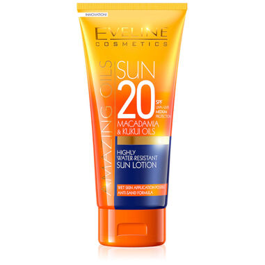 Eveline Cosmetics Amazing Oils Highly Water-resistant Sun Lotion SPF20 - 200ml.