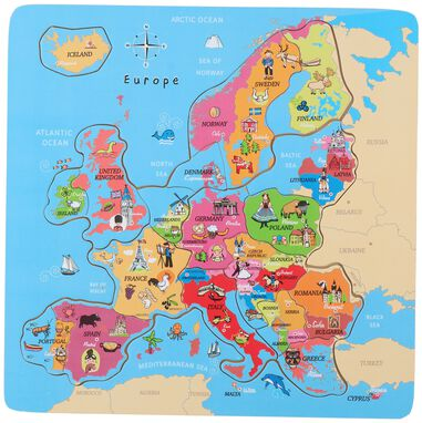 Puzzle Europe 18 Pieces Wood