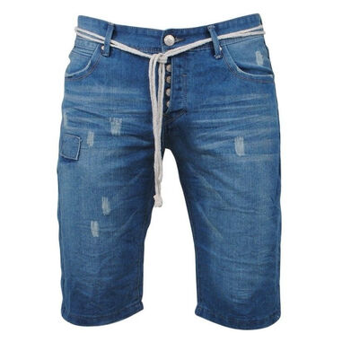 Rivaldi heren bermuda ri-03101 denim damaged look blauw