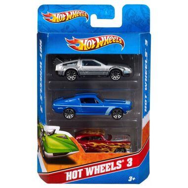 Hot Wheels raceauto speelset 3 stuks