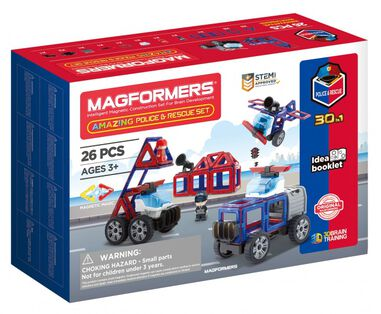 Magformers Amazing Police and Rescue set 26-delig