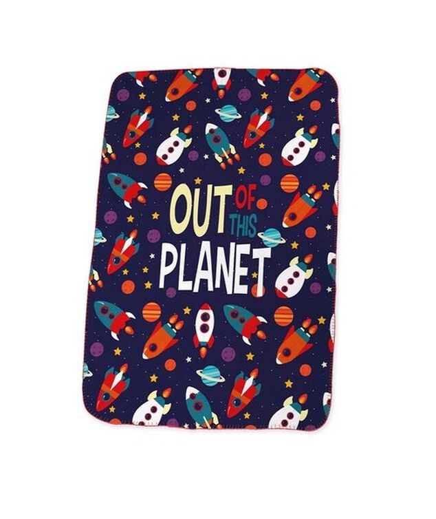 Kids Licensing fleecedeken Out of the Planet 100 x 150 cm blauw