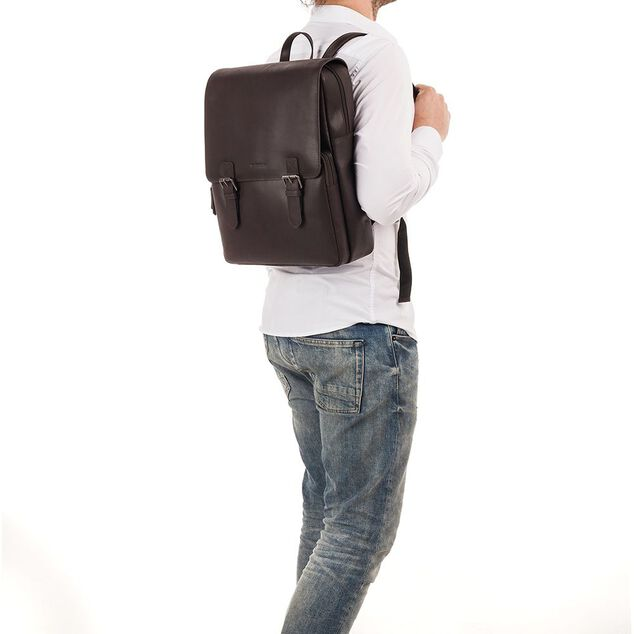 Burkely Leren Laptop Rugzak 14 inch On The Move Bruin