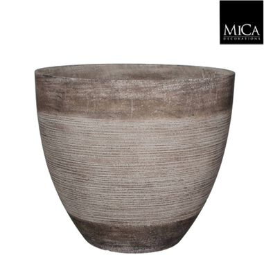 Echo pot rond taupe h39,5xd45 cm Mica Decorations