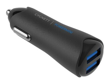 Cygnett PowerMini Auto oplader  4.8 A  2x USB 3.0 aansluitingen  Super-fast Charge  Wit  Voor oa Samsung Galaxy S10 / S9 / S8 / S7 (Plus / Edge / Active) / A9 / A8   Apple iPhone Xr / Xs Max / X / 8 / 7 / 6  Huawei P20 / P10 (Mate / Pro / Lite)