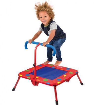 trampoline Fold and Bounce 74 x 74 x 75 cm rood