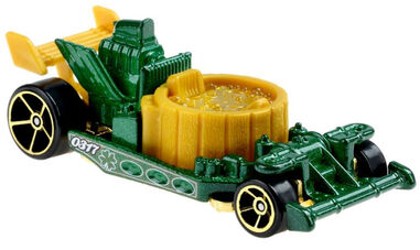 Hot Wheels auto holiday racers hottub 7 cm groen/goud