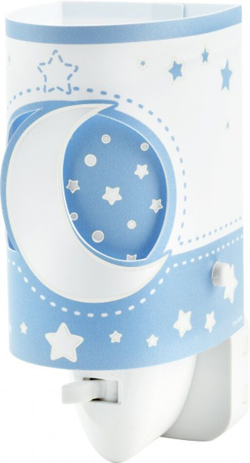 Dalber nachtlamp Moonlight glow in the dark 13 cm blauw