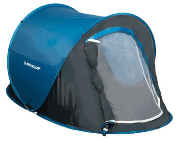 Dunlop Pop-up Tent - 1 Persoons - 220 x 120 x 90 cm - Blauw