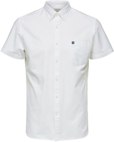 Selected Homme Heren overhemd korte mouw button-down regular fit