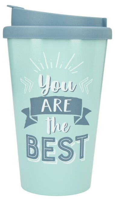 Depesche Drinkbeker To-Go You are the Best Blue