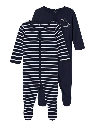 Name it Pyjama 2-pack drukknoop