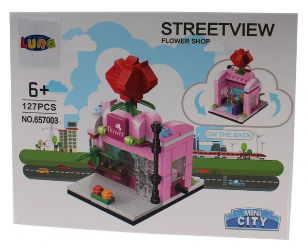 Luna Mini City Streetview Flower Shop bouwset 127-delig (657003)
