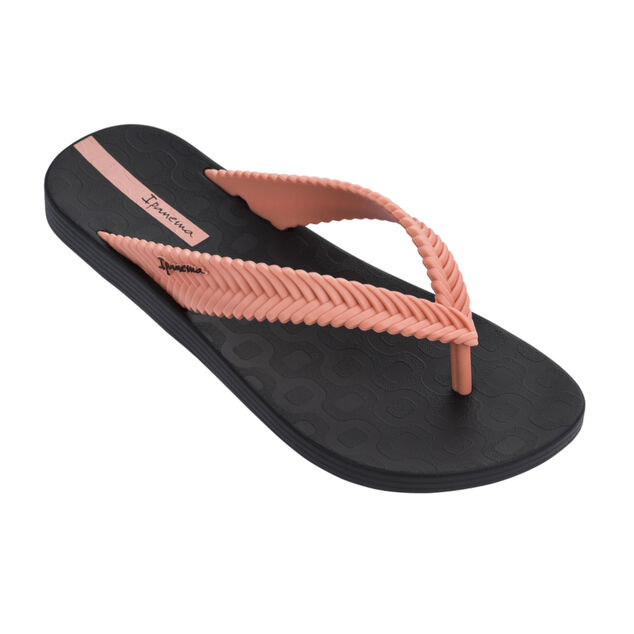 Ipanema slipper dames - Nature zwart/roze