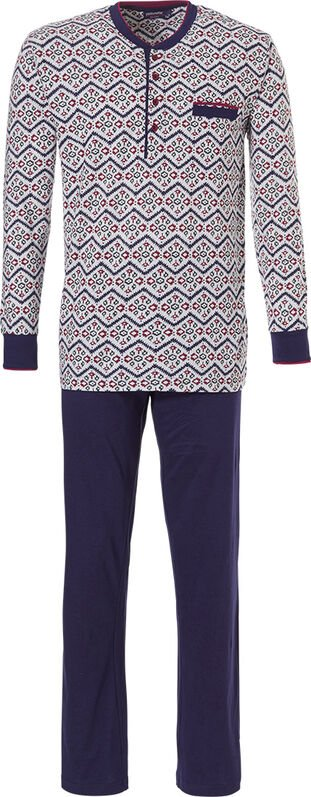 Heren pyjama 'zig zags & trendy diamant patroon'