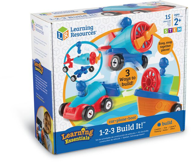 1-2-3 Bouw een Auto-Vliegtuig-Boot Learning Resources