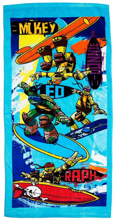Ninja Turtles badlaken Surf blauw junior 70 x 140 cm