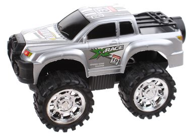 Free and Easy monstertruck frictiemotor 13 cm grijs