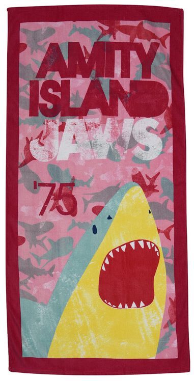 Jaws badlaken roze junior 70 x 140 cm