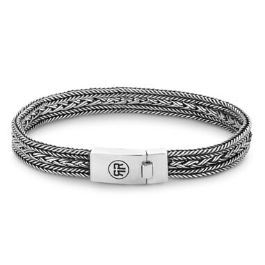 Rebel and Rose RR-BR018-S Armband Electra zilver XL 23 cm