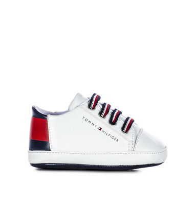 Tommy Hilfiger Tommy hlifiger lace-up baby sneaker 30685 white wit
