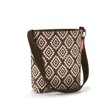 Reisenthel Shoulderbag S Schoudertas -Maat S - Polyester - 4.7L  - Diamonds Mocha Mokka; Zand