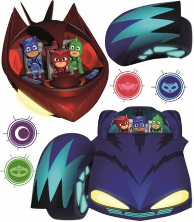 muurstickers PJ Masks cars & villains 2 stickervellen