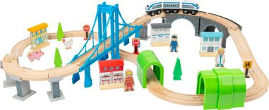 Small Foot speelgoedtrein Bridge hout junior 24-delig