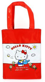Blueprint Collections handtas Hello Kitty rood 19 x 25 cm