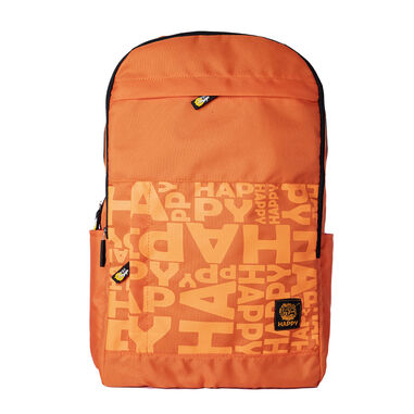 BiggDesign Moods Up Happy Rugtas - Rugzak - Schooltas - Sporttas - Oranje