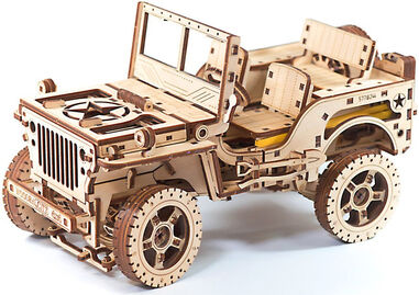 Wooden City modelbouwset Willys Jeep 17,9 cm hout 564-delig