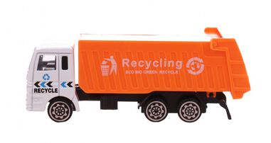 Free and Easy recycle vrachtwagen oranje 11 cm