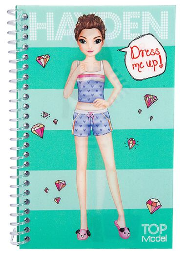 TOPModel Dress Me Up Pocket Stickerboek Turquoise