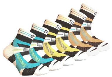 6 paar Kids - Quarter sneakersokken - coolmax - multi-colour