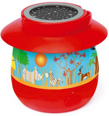 Scratch nachtlamp Safari junior rood 14 x 12,7 cm