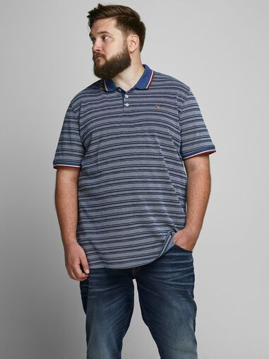 Jack & Jones Plus size polo Gestreepte
