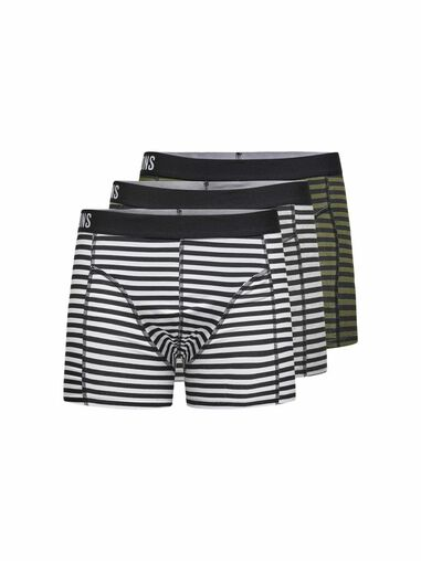 ONLY & SONS Boxershorts 3-pack gestreept