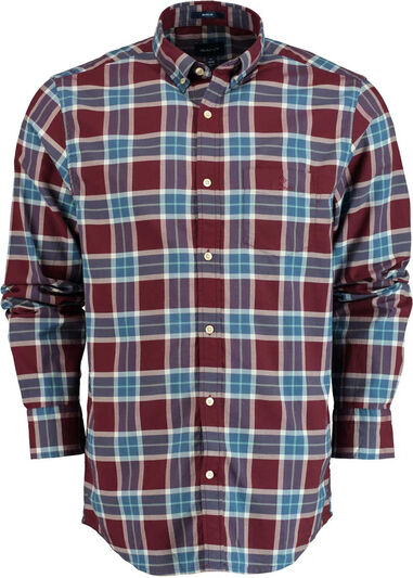 Gant Winter twill plaid reg bd 3011330/605 bordeaux  Bordeaux