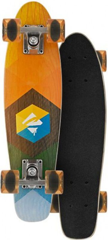 skateboard juicy woody 57 cm oranje
